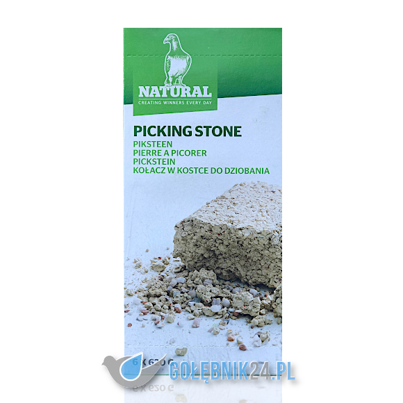Natural - Picking stone (kołacz w kostce do dziobania) - 6 x 620 g