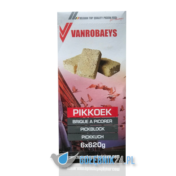 Vanrobaeys - Pikkoek - kostki do dziobania 6x620 g