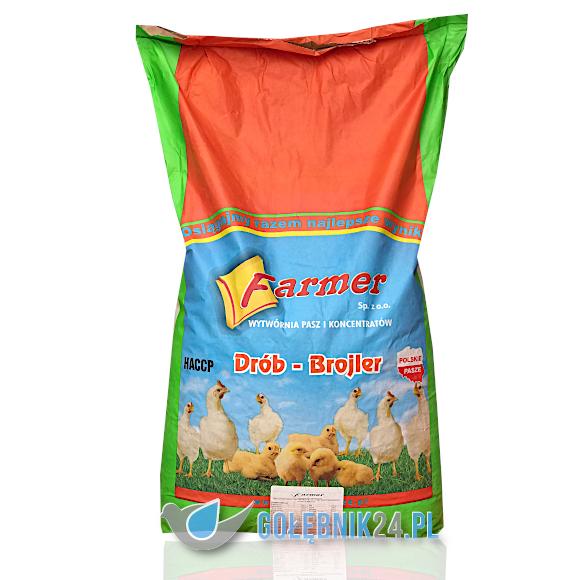Farmer - Pasza dla kurczaków brojlerów od 14 do 35 dnia DKG - 25 kg